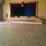 Velký sál před zahájením zdobení