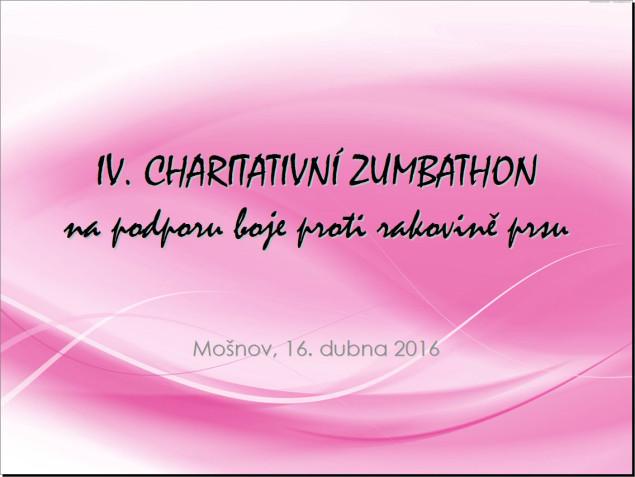 Prezentace ke IV. charitativnímu zumbathonu na podporu boje proti rakovině prsu