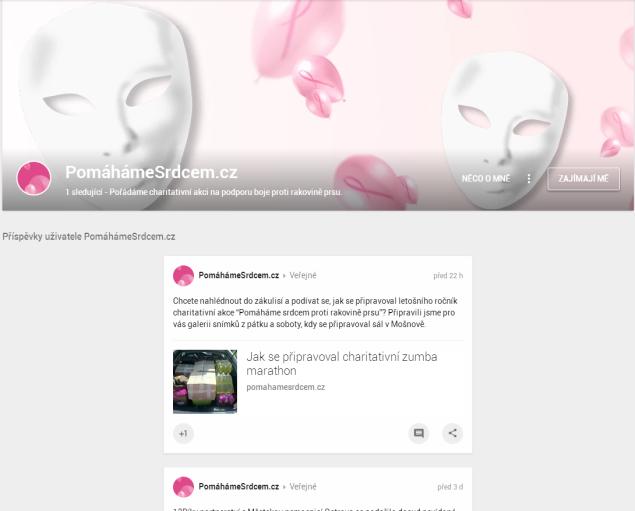 V rámci medializace jsme i na Google+