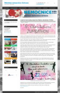Informace na webu Městské nemocnice Ostrava